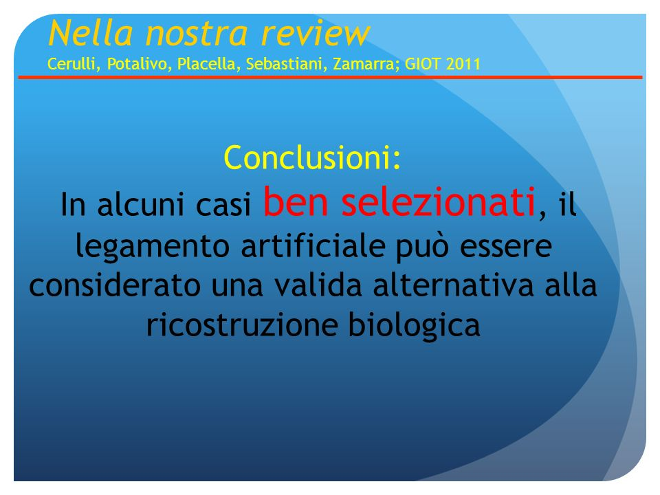 Nella nostra review Conclusioni: