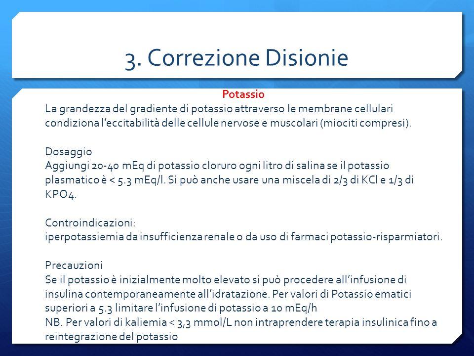 3. Correzione Disionie Potassio