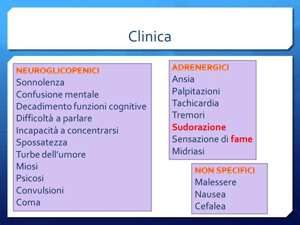 Clinica Ansia Sonnolenza Palpitazioni Confusione mentale Tachicardia