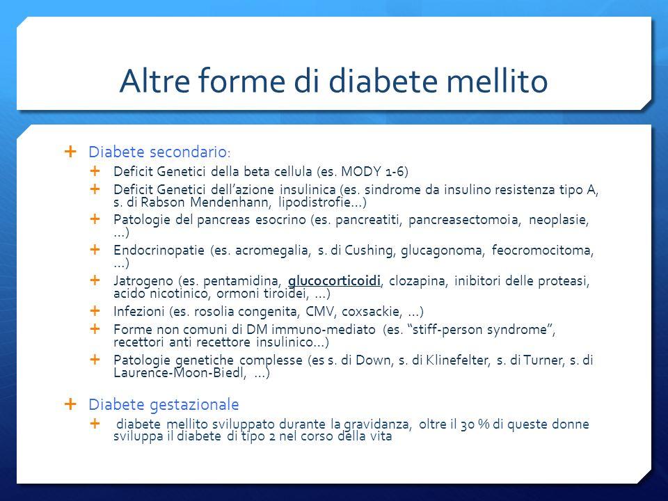 Altre forme di diabete mellito
