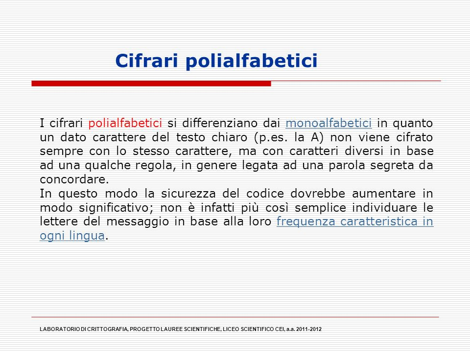 Cifrari polialfabetici