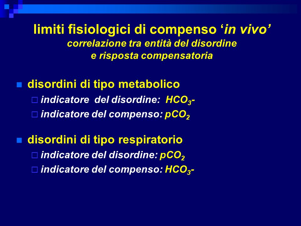 limiti fisiologici di compenso 'in vivo' correlazione tra entità del disordine e risposta compensatoria
