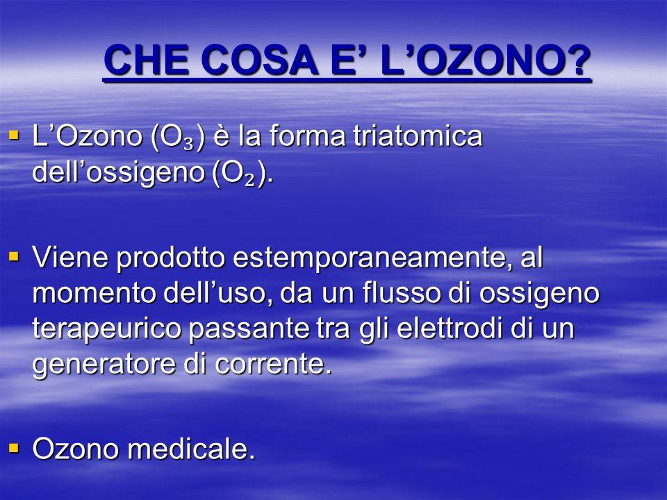CHE COSA E' L'OZONO L'Ozono (O₃) è la forma triatomica dell'ossigeno (O₂).