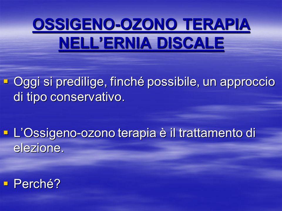 OSSIGENO-OZONO TERAPIA NELL'ERNIA DISCALE