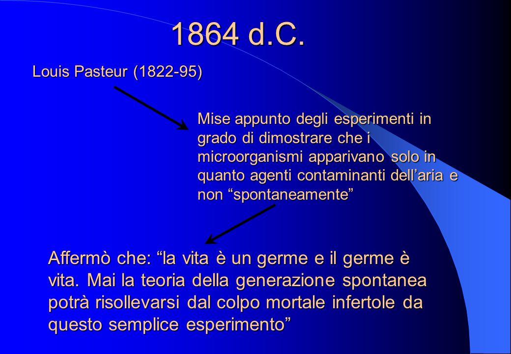 1864 d.C. Louis Pasteur (1822-95)