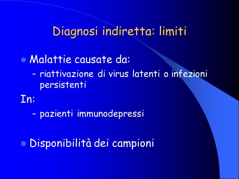 Diagnosi indiretta: limiti