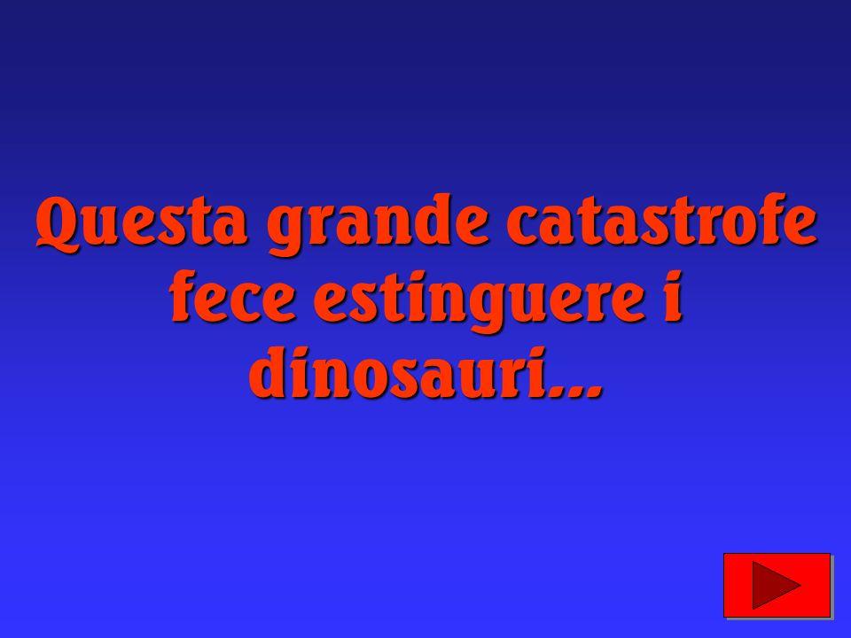 Questa grande catastrofe fece estinguere i dinosauri...