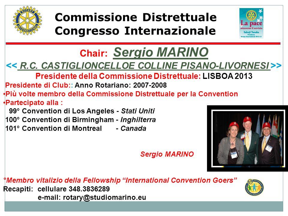 Commissione Distrettuale Congresso Internazionale