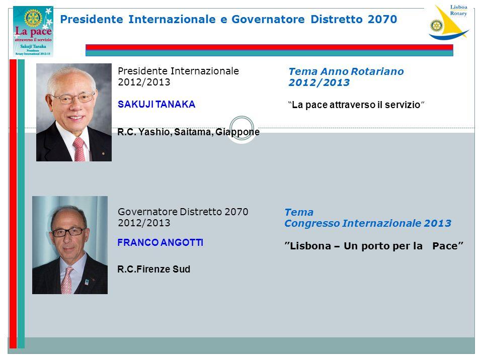 Presidente Internazionale e Governatore Distretto 2070
