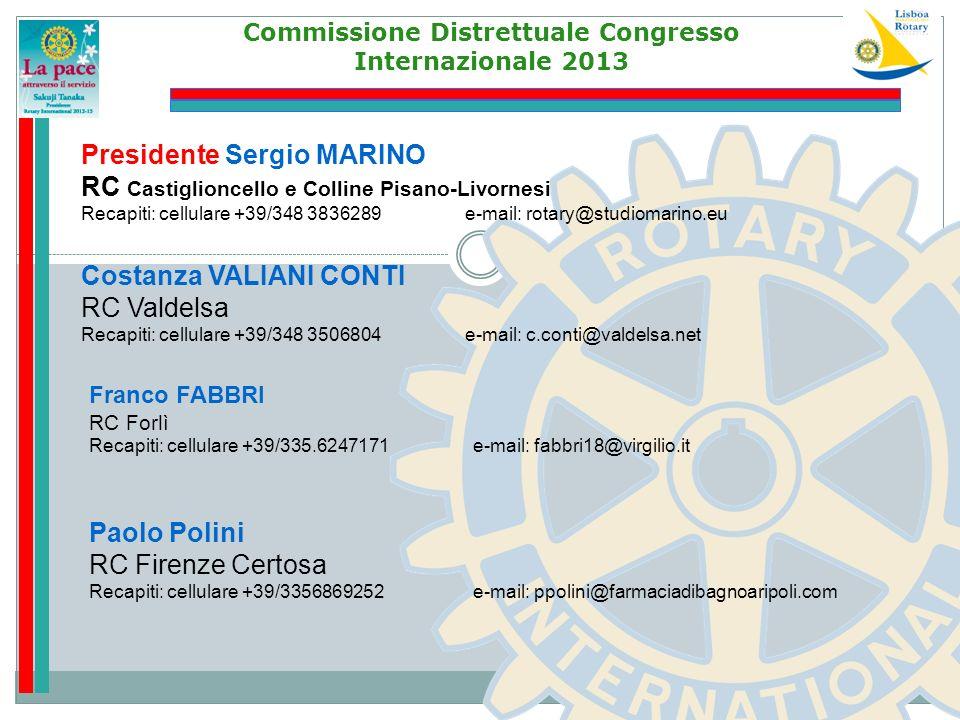 Commissione Distrettuale Congresso Internazionale 2013