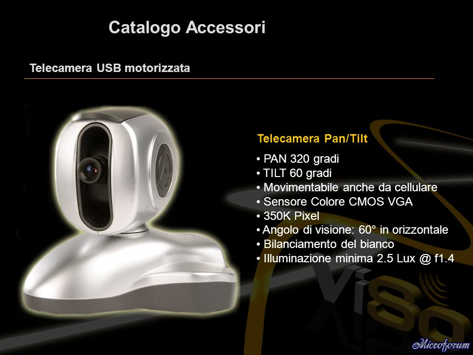 Catalogo Accessori Telecamera USB motorizzata Telecamera Pan/Tilt