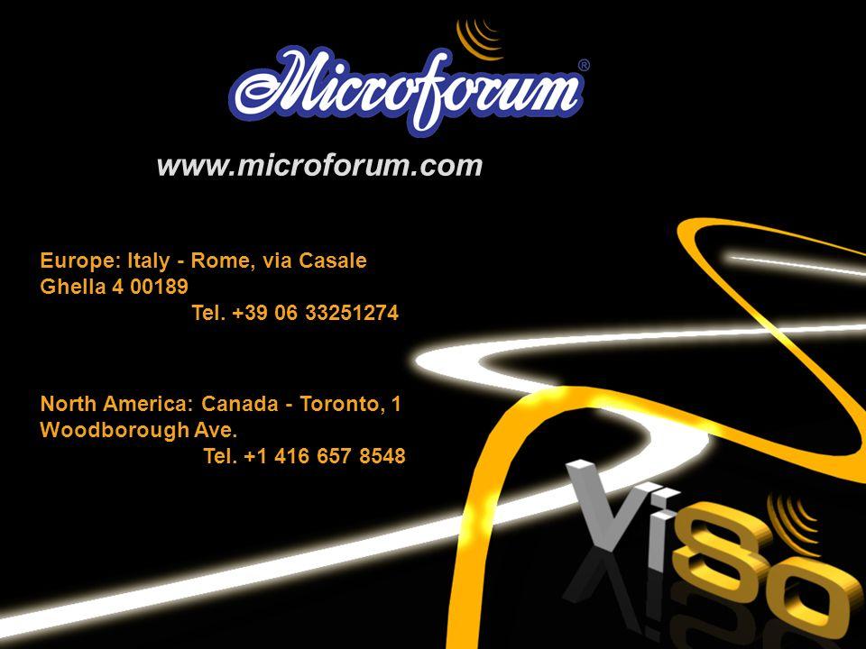 www.microforum.com Europe: Italy - Rome, via Casale Ghella 4 00189
