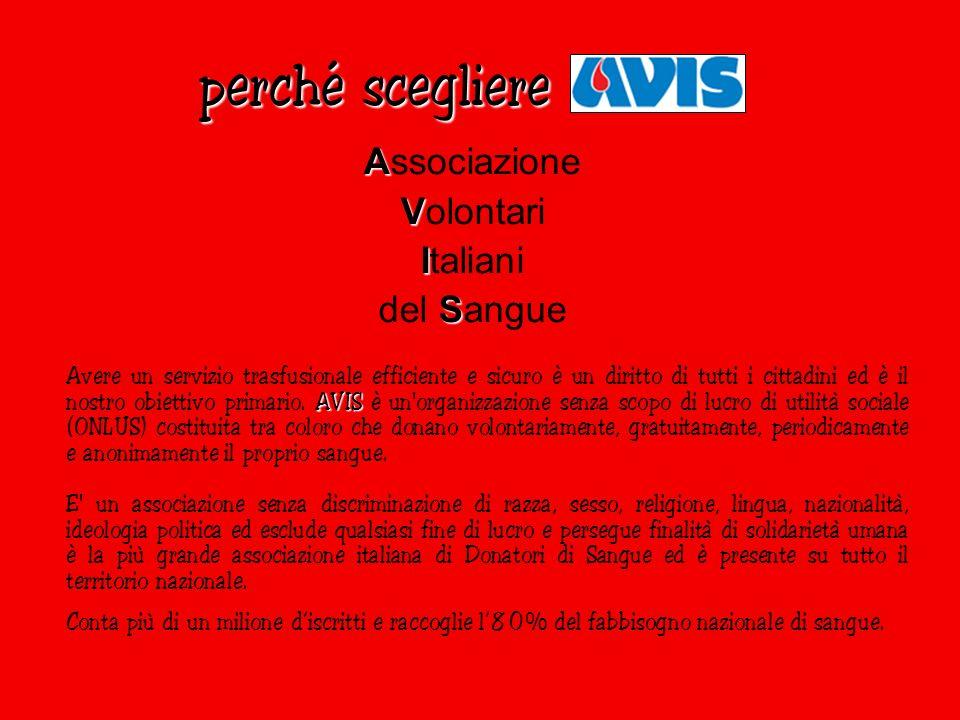 perché scegliere Associazione Volontari Italiani del Sangue