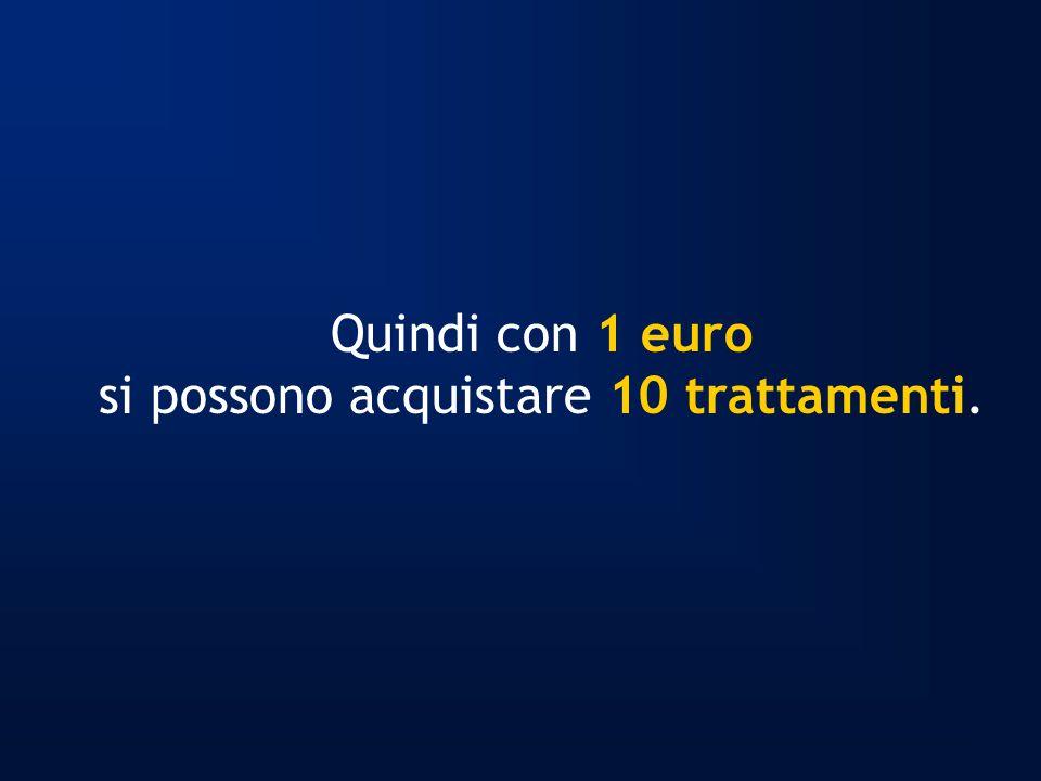 Quindi con 1 euro si possono acquistare 10 trattamenti.