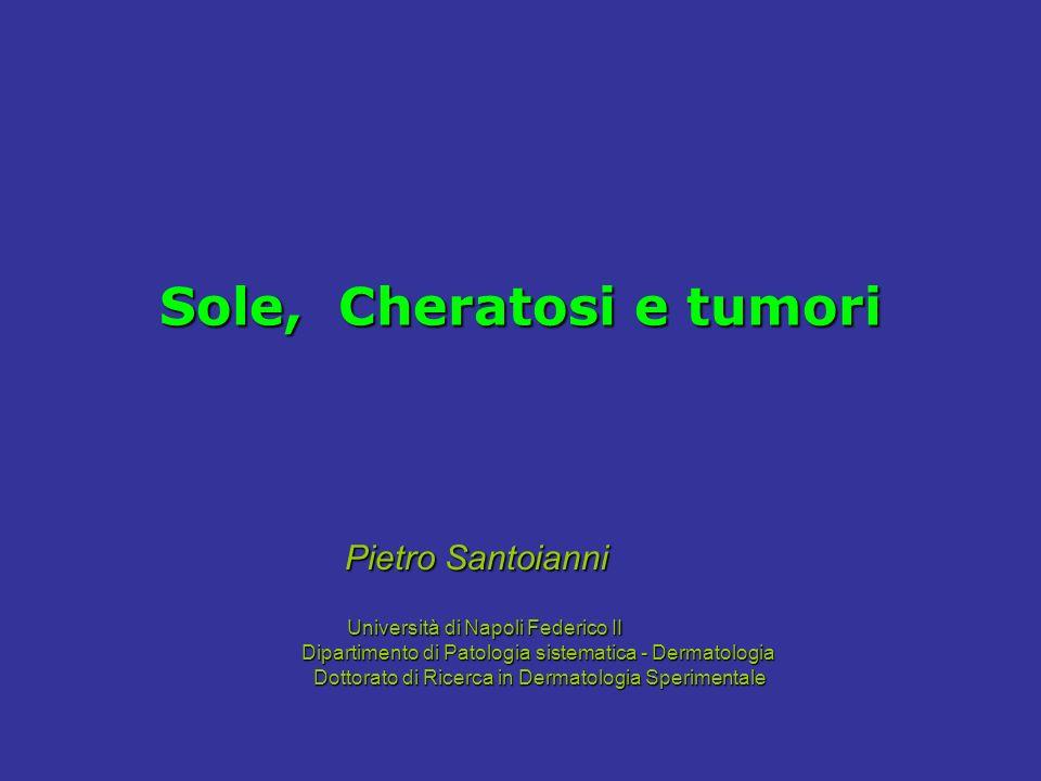 Sole, Cheratosi e tumori