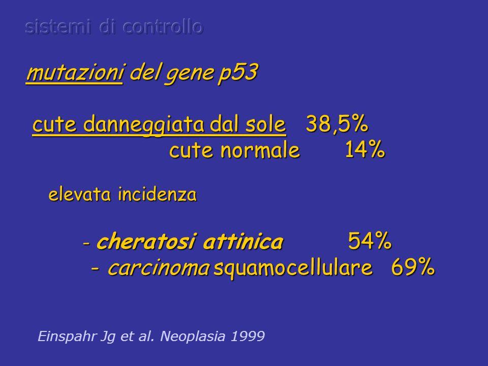 cute danneggiata dal sole 38,5% cute normale 14%
