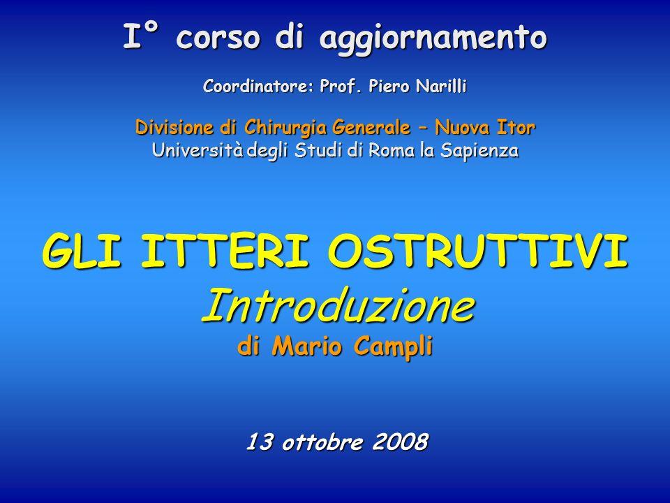 GLI ITTERI OSTRUTTIVI Introduzione