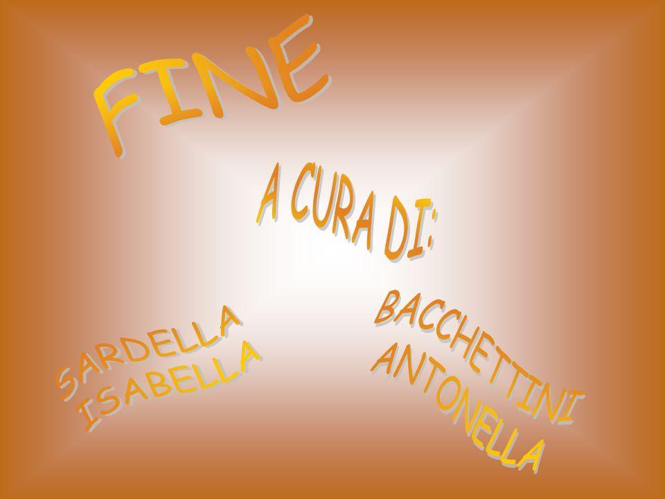 FINE A CURA DI: SARDELLA ISABELLA BACCHETTINI ANTONELLA