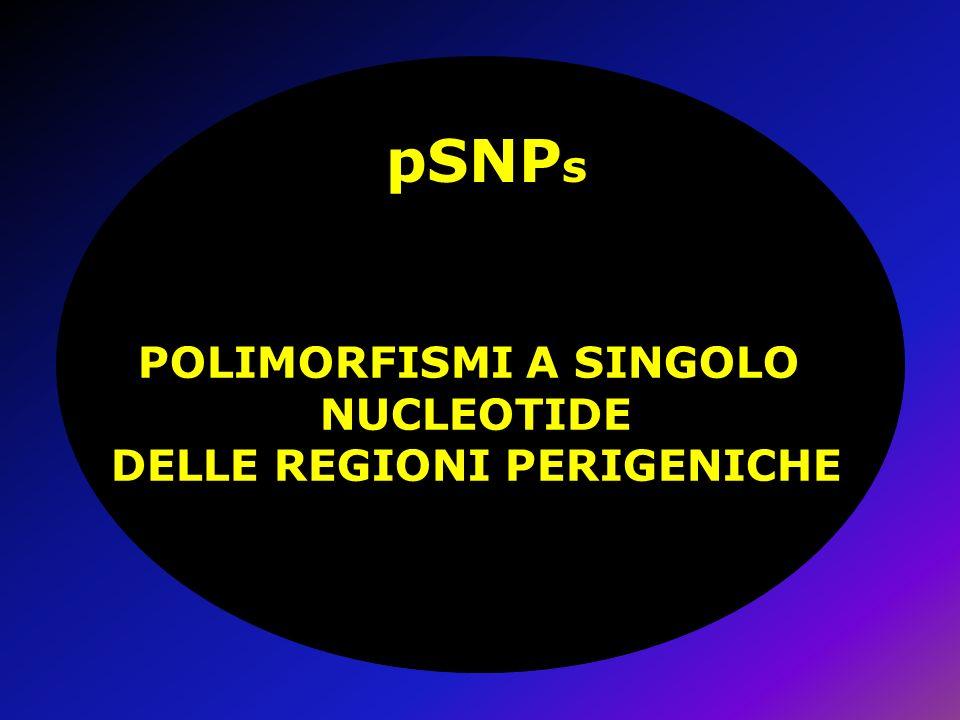 POLIMORFISMI A SINGOLO NUCLEOTIDE DELLE REGIONI PERIGENICHE