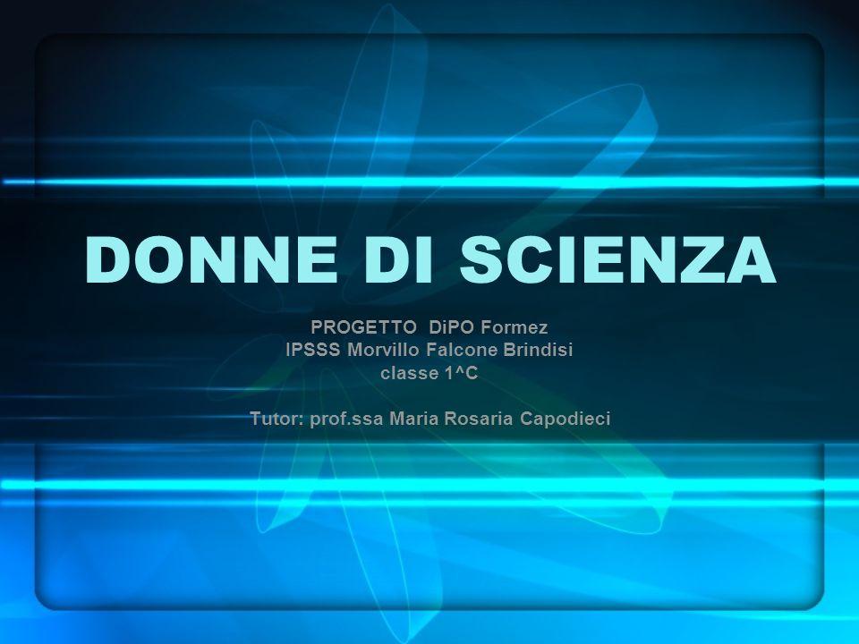 DONNE DI SCIENZA PROGETTO DiPO Formez IPSSS Morvillo Falcone Brindisi