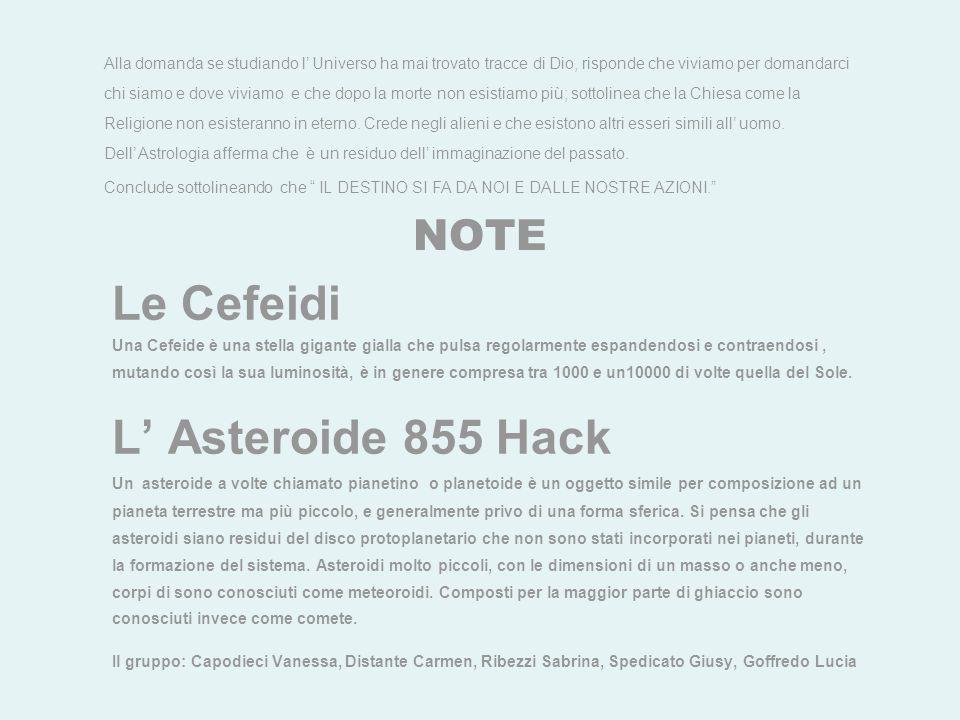 Le Cefeidi L' Asteroide 855 Hack NOTE