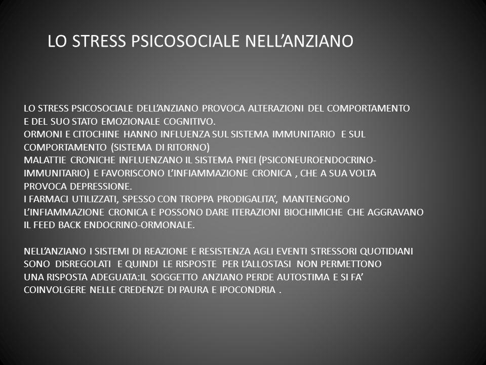 LO STRESS PSICOSOCIALE NELL'ANZIANO