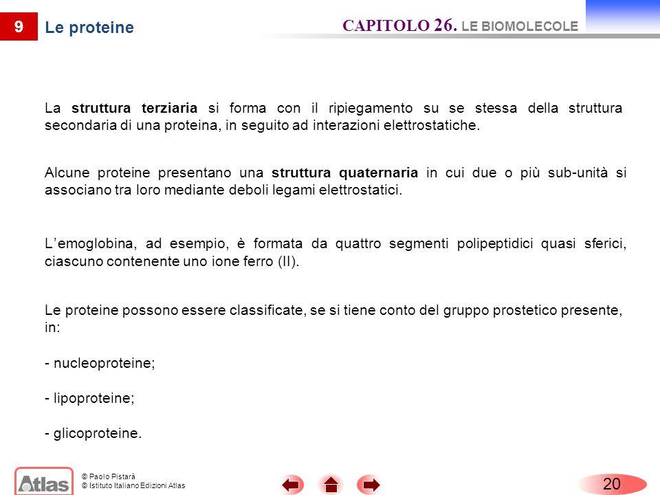 CAPITOLO 26. LE BIOMOLECOLE Le proteine