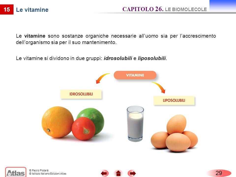 CAPITOLO 26. LE BIOMOLECOLE Le vitamine