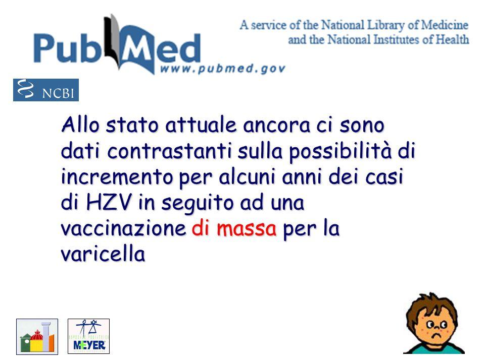 Allo stato attuale ancora ci sono dati contrastanti sulla possibilità di incremento per alcuni anni dei casi di HZV in seguito ad una vaccinazione di massa per la varicella