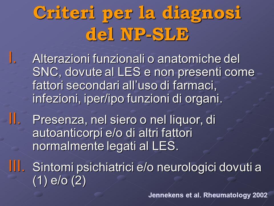Criteri per la diagnosi del NP-SLE