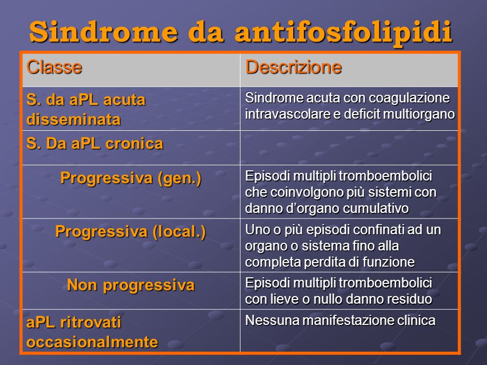 Sindrome da antifosfolipidi