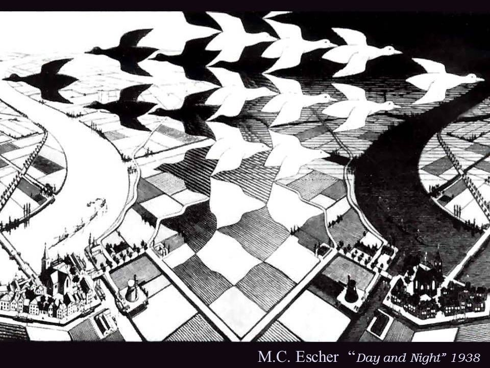 M.C. Escher Day and Night 1938