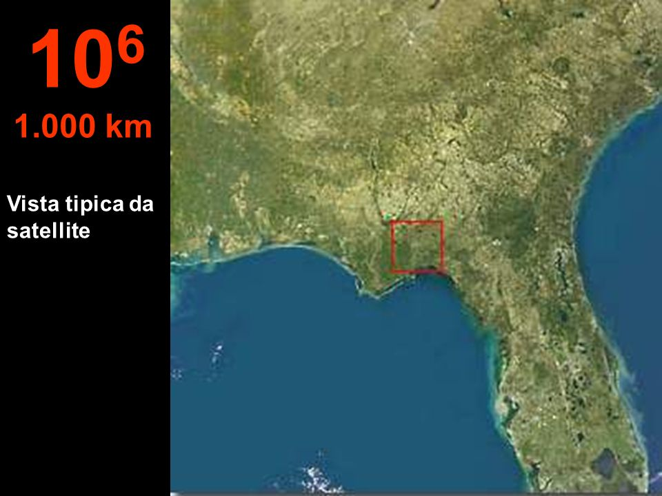 106 1.000 km Vista tipica da satellite