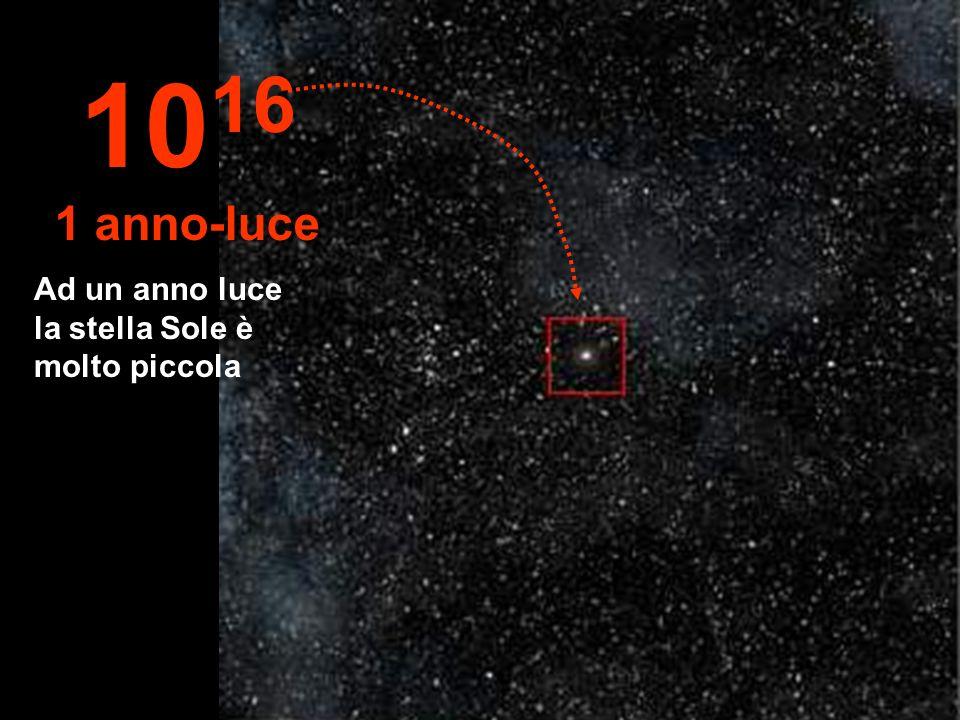 1016 1 anno-luce Ad un anno luce la stella Sole è molto piccola