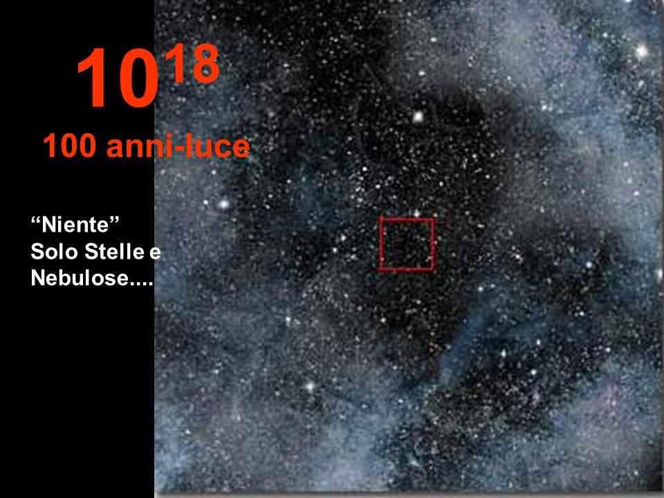 1018 100 anni-luce Niente Solo Stelle e Nebulose....