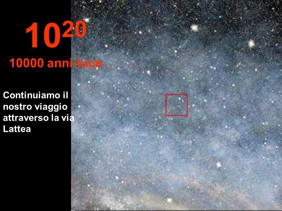1020 10000 anni-luce Continuiamo il nostro viaggio attraverso la via Lattea