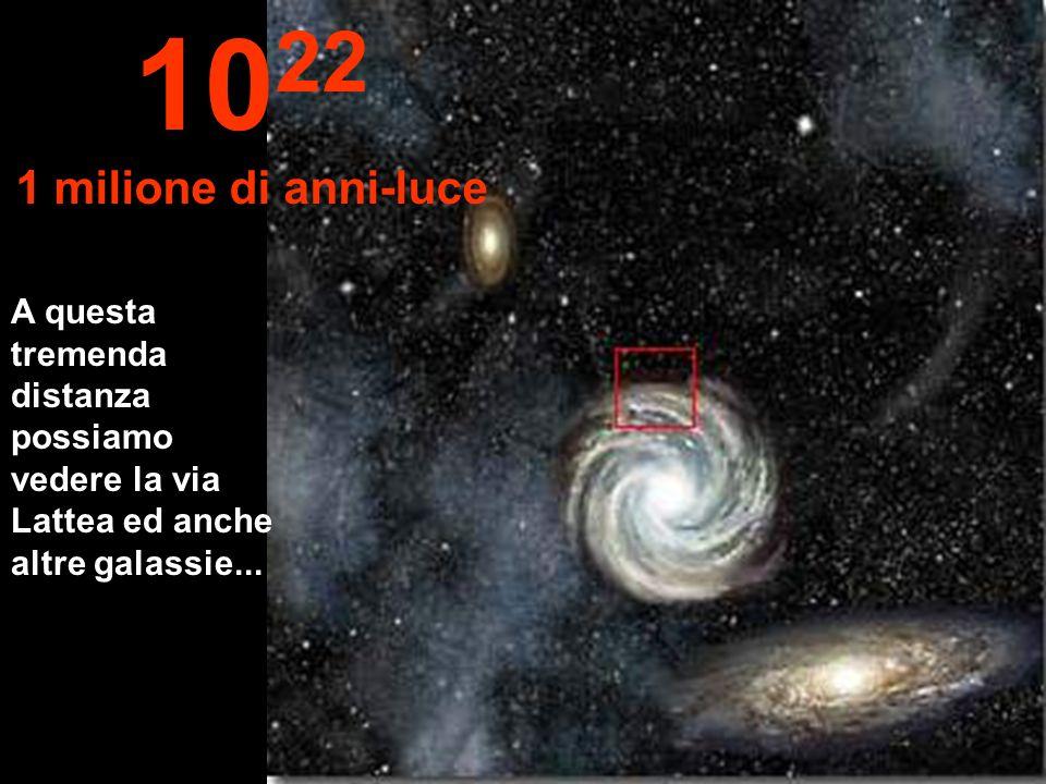 1022 1 milione di anni-luce.