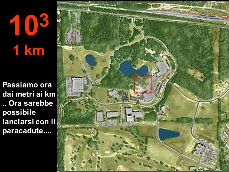 103 1 km Passiamo ora dai metri ai km .. Ora sarebbe possibile lanciarsi con il paracadute....