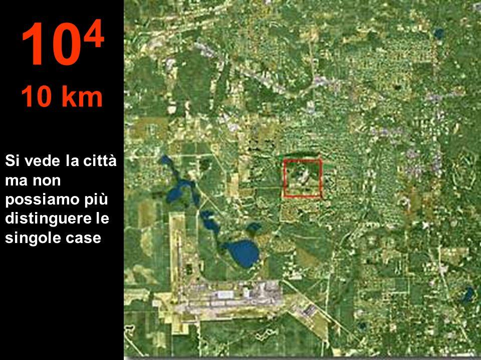 104 10 km Si vede la città ma non possiamo più distinguere le singole case