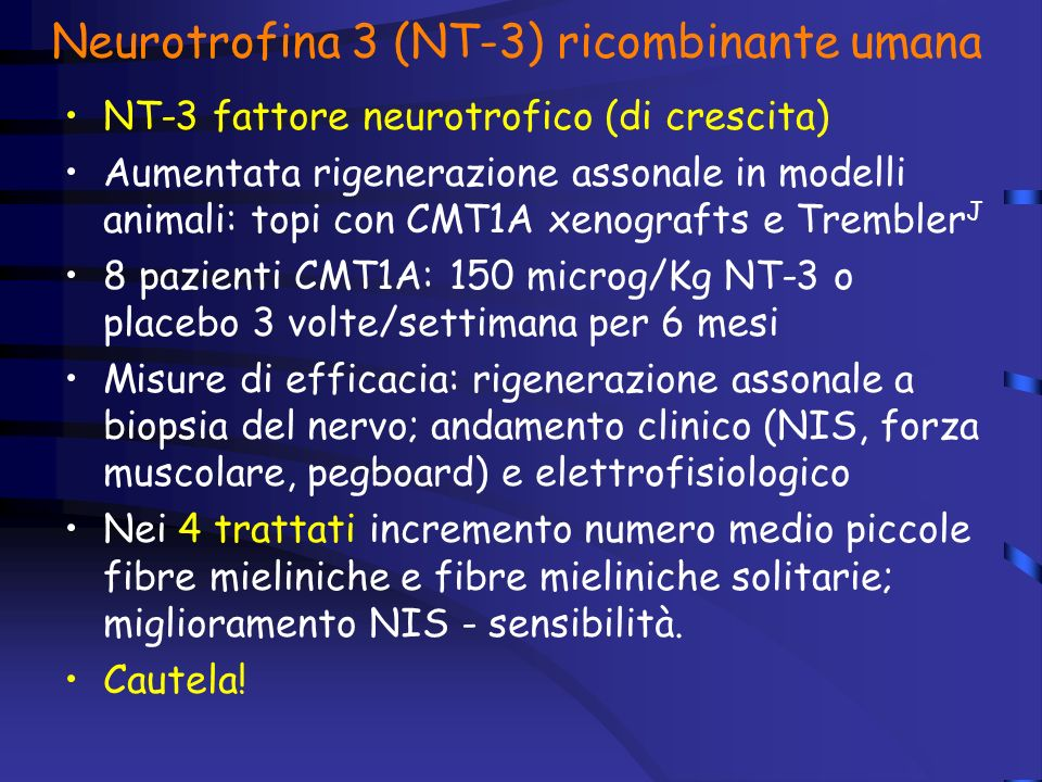 Neurotrofina 3 (NT-3) ricombinante umana