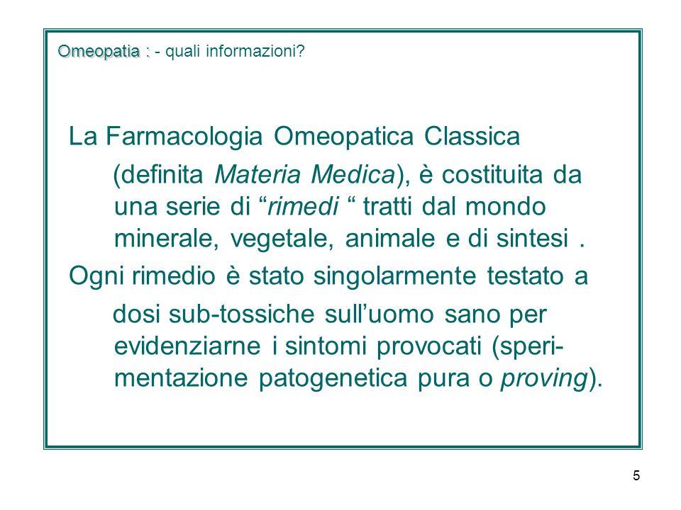 Omeopatia : - quali informazioni