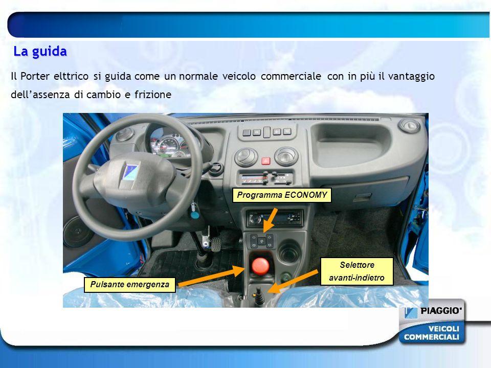 La guida Il Porter elttrico si guida come un normale veicolo commerciale con in più il vantaggio dell'assenza di cambio e frizione.