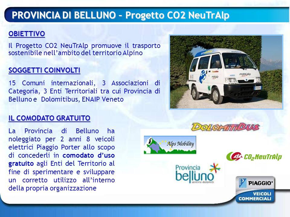 PROVINCIA DI BELLUNO – Progetto CO2 NeuTrAlp