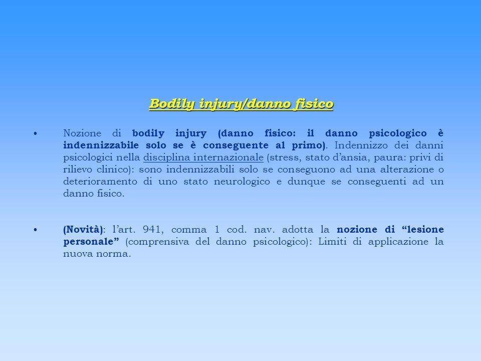 Bodily injury/danno fisico