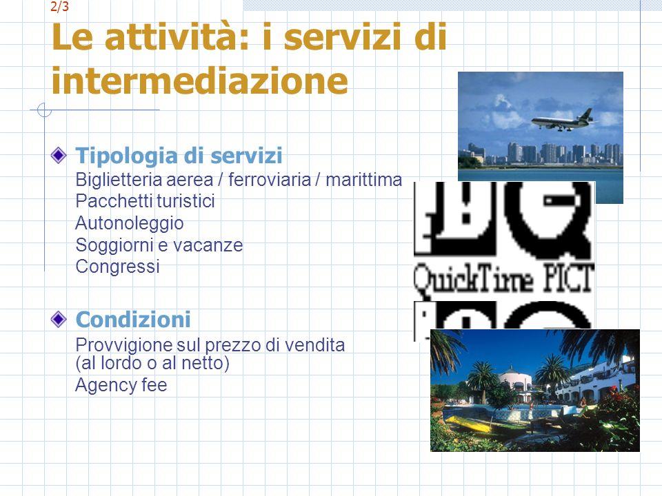 2/3 Le attività: i servizi di intermediazione