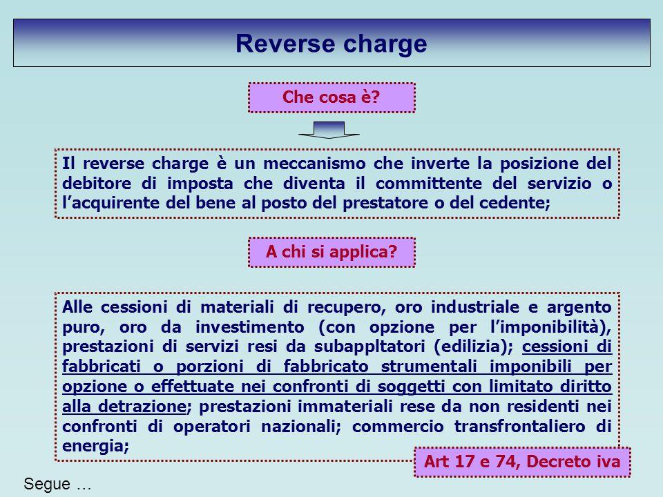 Reverse charge Che cosa è