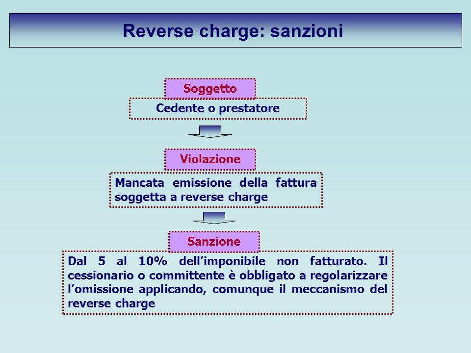 Reverse charge: sanzioni