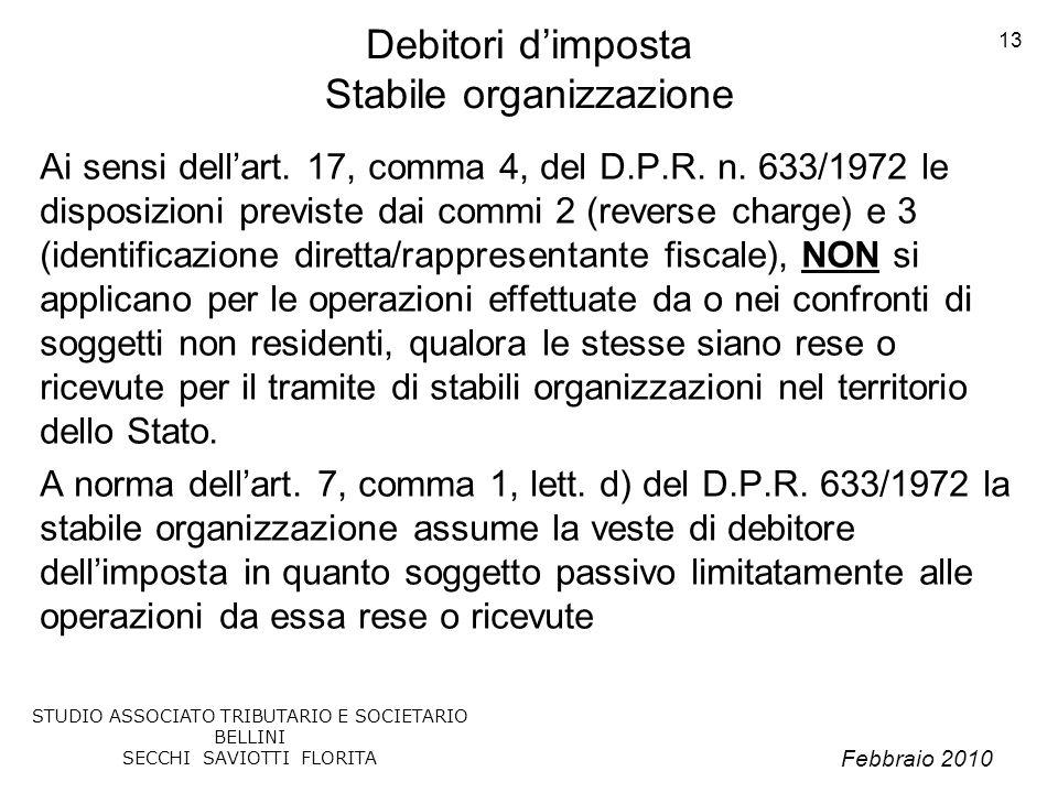 Debitori d'imposta Stabile organizzazione