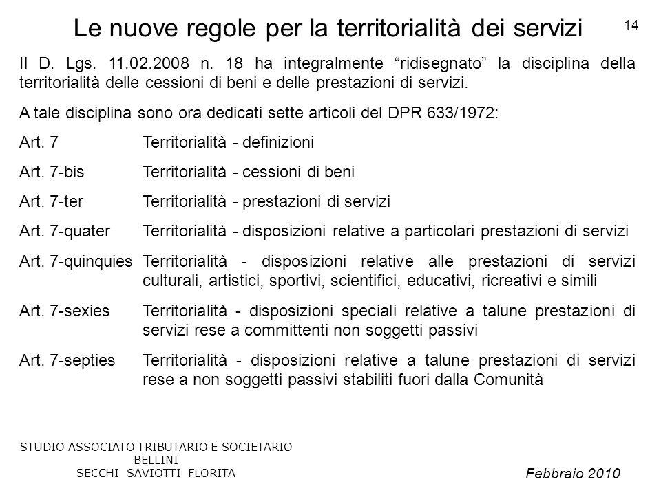Le nuove regole per la territorialità dei servizi