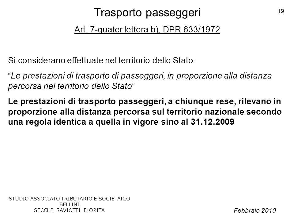 Trasporto passeggeri Art. 7-quater lettera b), DPR 633/1972